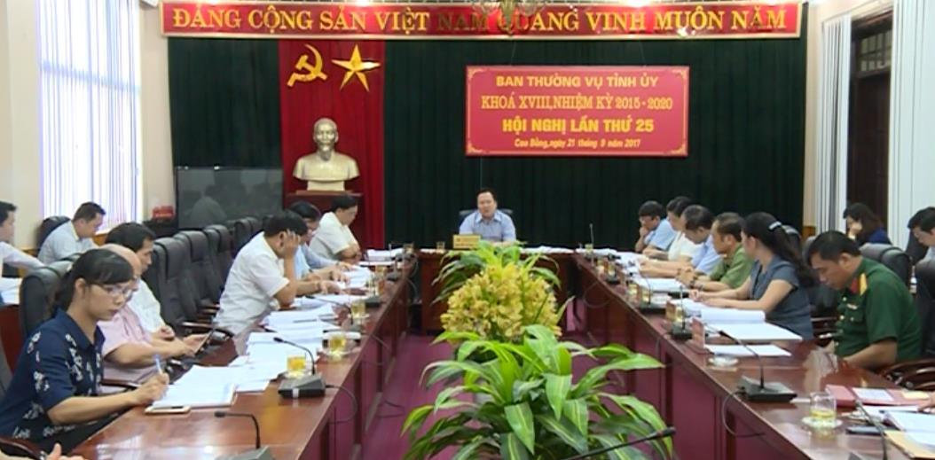 Hội nghị Ban Thường vụ Tỉnh ủy lần thứ 25