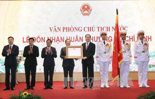 Văn phòng Chủ tịch nước đón nhận phần thưởng cao quý