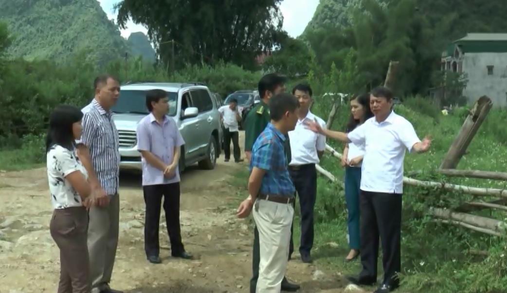 Chủ tịch UBND tỉnh Hoàng Xuân Ánh kiểm tra công tác chuẩn bị Lễ hội Du lịch thác Bản Giốc tại huyện Trùng Khánh