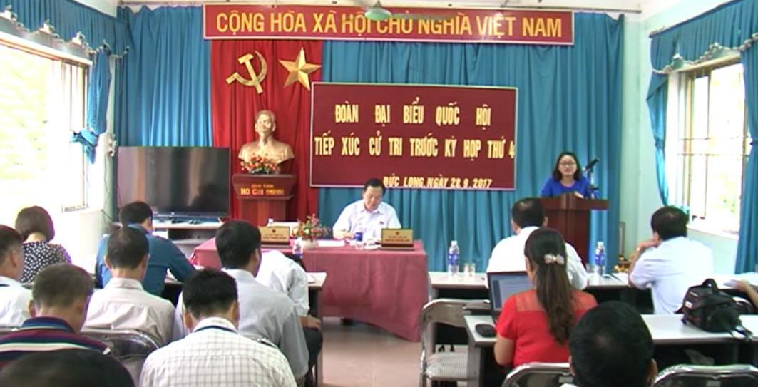 Đoàn đại biểu Quốc hội tỉnh tiếp xúc cử tri huyện Thạch An