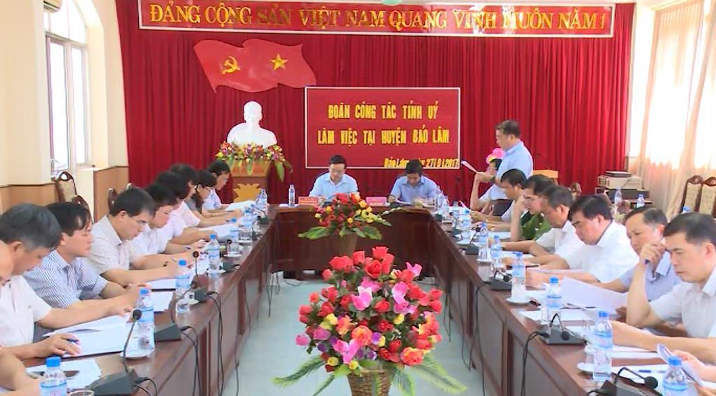 Phó Bí thư Thường trực Tỉnh ủy Triệu Đình Lê làm việc tại huyện Bảo Lâm