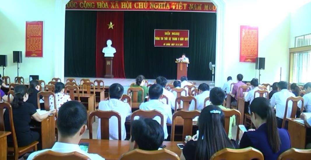 Hà Quảng: Hội nghị thông tin thời sự thường kỳ tháng 9