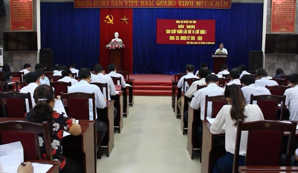 Trà Lĩnh: Hội nghị Ban Chấp hành Đảng bộ huyện lần thứ 14 mở rộng