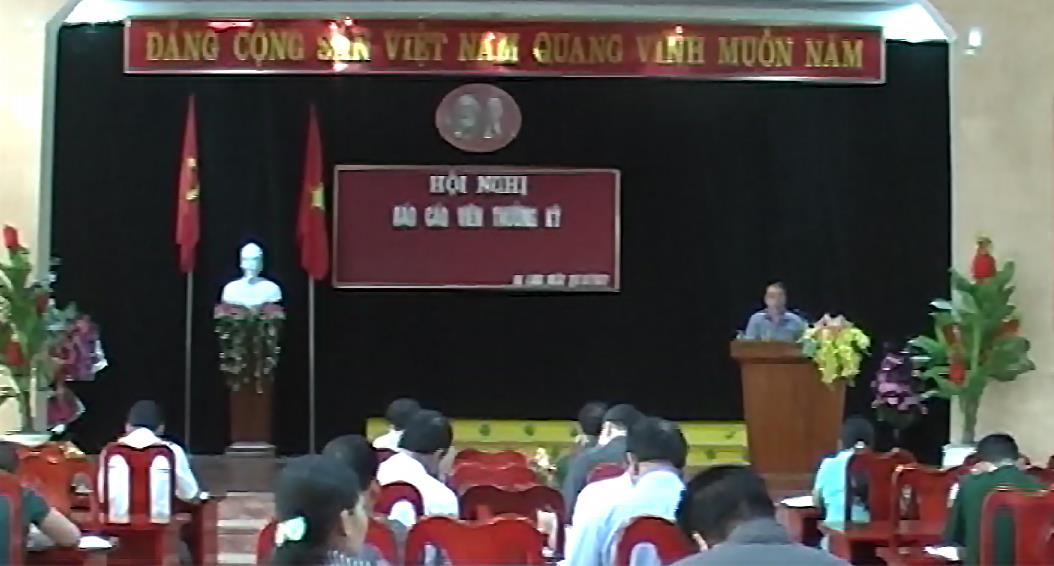 Hạ Lang: Hội nghị báo cáo viên thường kỳ tháng 9
