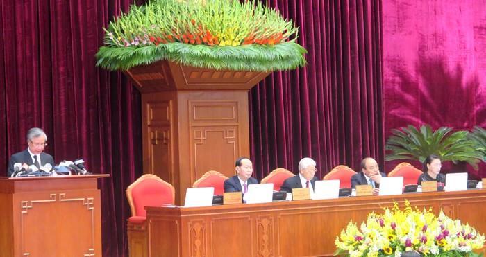 Ngày làm việc đầu tiên của Hội nghị Trung ương 6 khóa XII