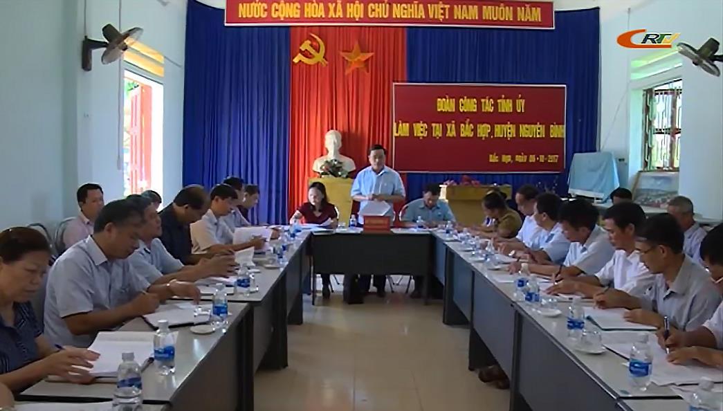 Phó Bí thư Thường trực Tỉnh ủy Triệu Đình Lê làm việc tại huyện Nguyên Bình