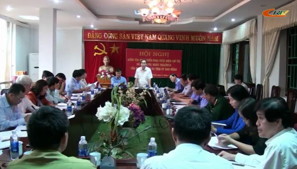 Ban Nội chính Tỉnh ủy làm việc với huyện Trùng Khánh