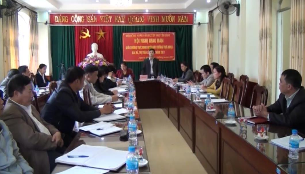 HĐND huyện Nguyên Bình giao ban với HĐND các xã, thị trấn