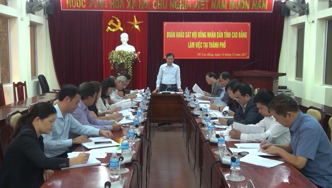 HĐND tỉnh: Giám sát tình hình thực hiện dự toán thu ngân sách nhà nước tại Thành phố