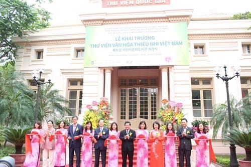 Khai trương Thư viện Văn hóa Thiếu nhi Việt Nam