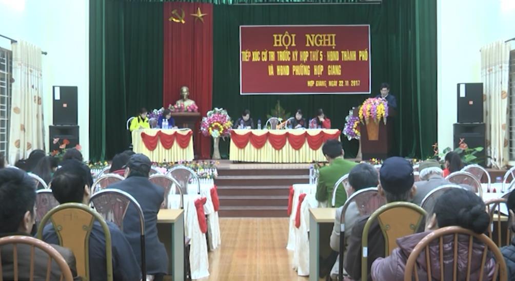 Đại biểu HĐND Thành phố tiếp xúc cử tri phường Hợp Giang