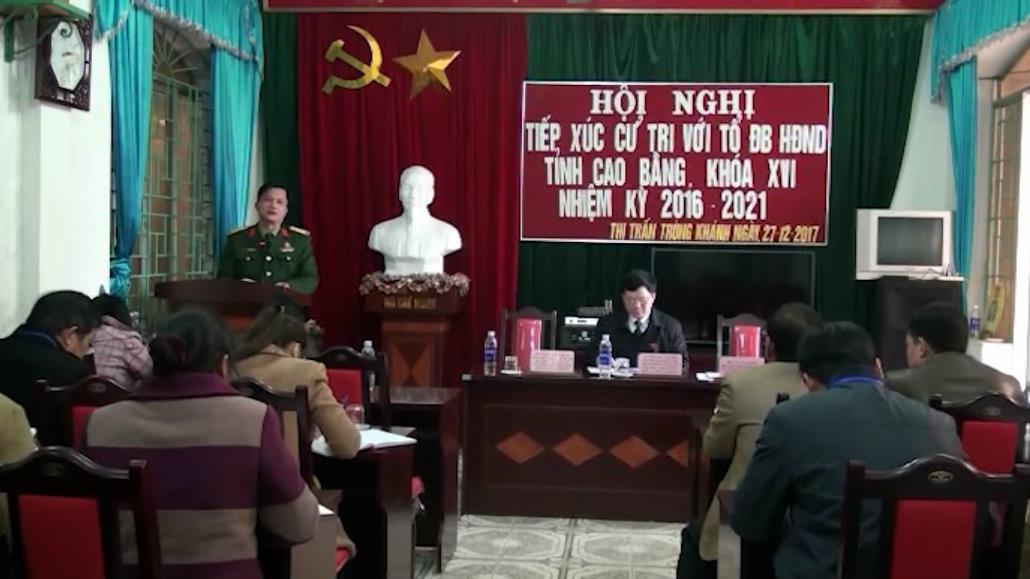 Đại biểu HĐND tỉnh tiếp xúc cử tri các huyện Phục Hòa, Trùng Khánh, Hạ Lang