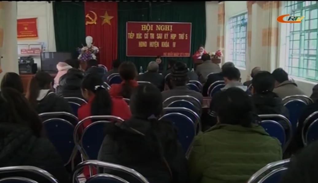 Bảo Lâm: Đại biểu HĐND huyện tiếp xúc cử tri
