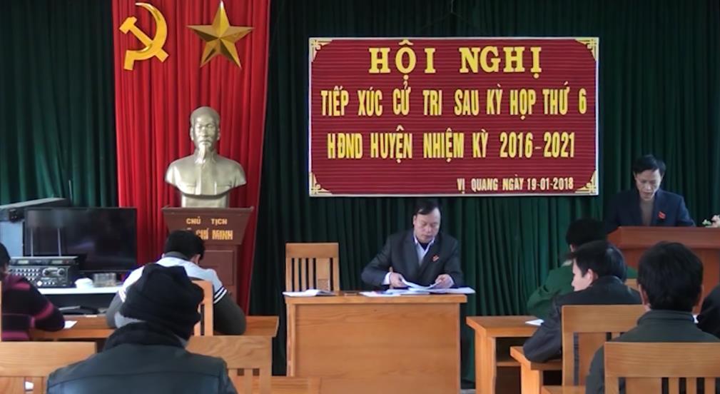 Thông Nông: Đại biểu HĐND huyện tiếp xúc cử tri xã Vị Quang