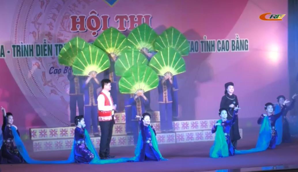 Gần 500 diễn viên, vận động viên tham gia Hội thi Hát dân ca - Trình diễn trang phục dân tộc và Thi đấu thể thao tỉnh Cao Bằng năm 2018