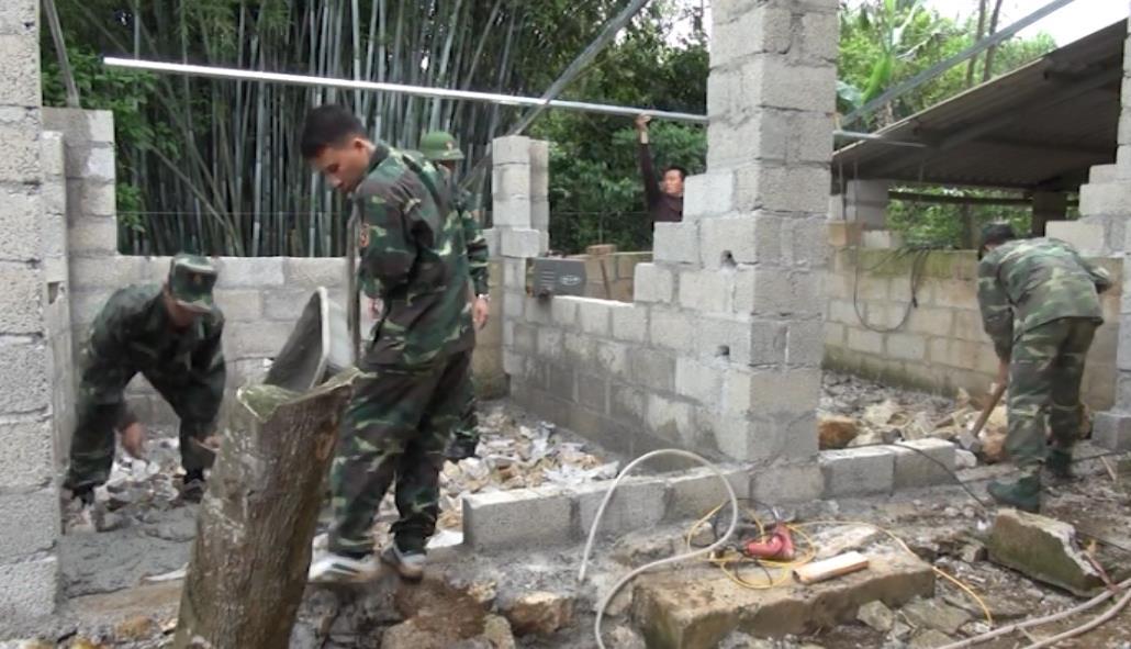 Đồn Biên phòng Cửa khẩu quốc tế Tà Lùng chung tay xây dựng nông thôn mới