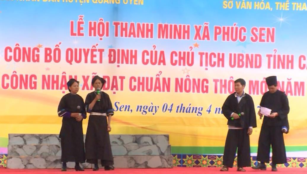 Không gian văn hóa tại Lễ hội Thanh Minh xã Phúc Sen, huyện Quảng Uyên
