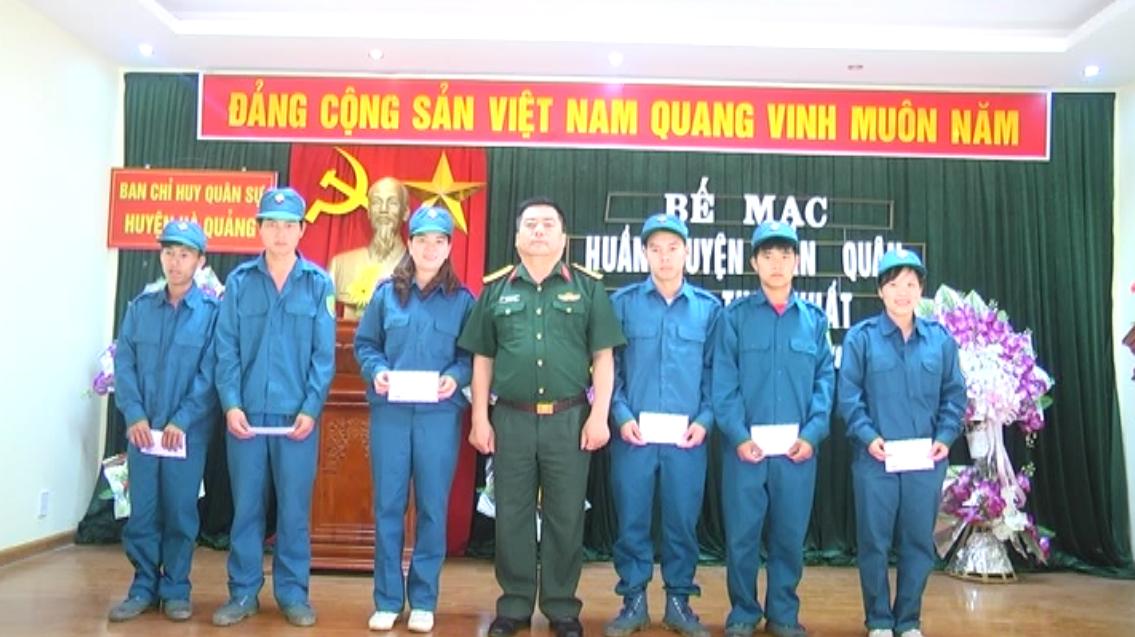 Hà Quảng: Dân quân năm thứ nhất  19 xã, thị trấn hoàn thành huấn luyện năm 2018