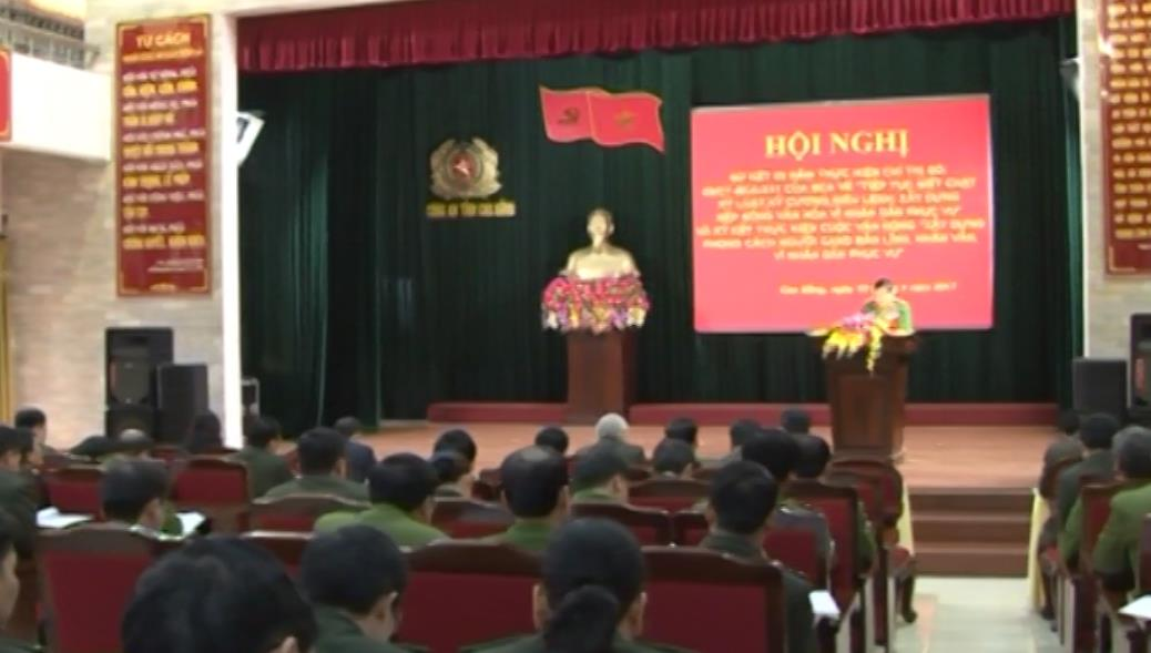 Công an tỉnh đẩy mạnh học tập và làm theo tư tưởng, đạo đức, phong cách Hồ Chí Minh