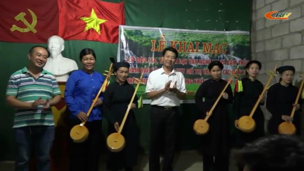 Trùng Khánh: Khai giảng lớp đào tạo, truyền dạy dân ca dân tộc