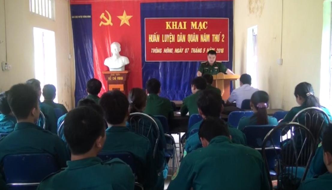 Thông Nông: Khai mạc huấn luyện dân quân năm thứ 2