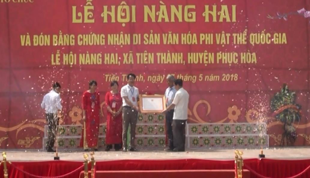 Lễ hội Nàng Hai xã Tiên Thành được công nhân là di sản văn hóa phi vật thể quốc gia