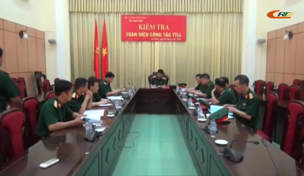 Đoàn công tác Quân khu 1 kiểm tra công tác thông tin liên lạc tại Bộ CHQS tỉnh