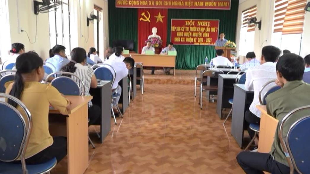 Nguyên Bình: Đại biểu HĐND huyện tiếp xúc cử tri 2 xã Quang Thành, Hưng Đạo