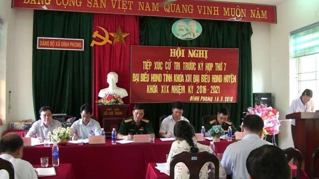 Đại biểu HĐND tỉnh tiếp xúc xử tri 2 xã Đình Phong, Ngọc Côn (Trùng Khánh)