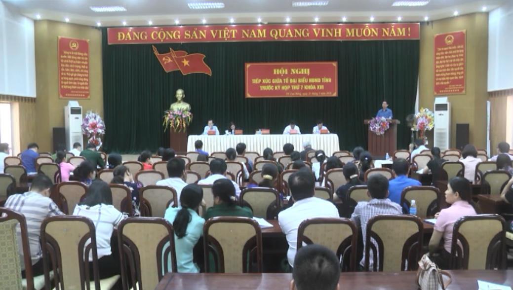 Đại biểu HĐND tỉnh tiếp xúc cử tri Thành phố trước kỳ họp thứ 7 HĐND tỉnh khóa XVI