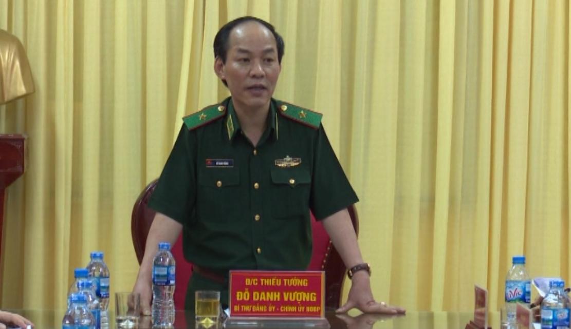 Chính ủy Bộ Tư lệnh Bộ đội Biên phòng làm việc với Bộ Chỉ huy BĐBP tỉnh Cao Bằng