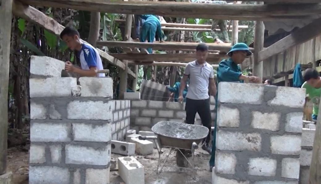 Ban Chỉ huy Quân sự huyện Phục Hòa chung tay giúp xã Đại Sơn xây dựng nông thôn mới