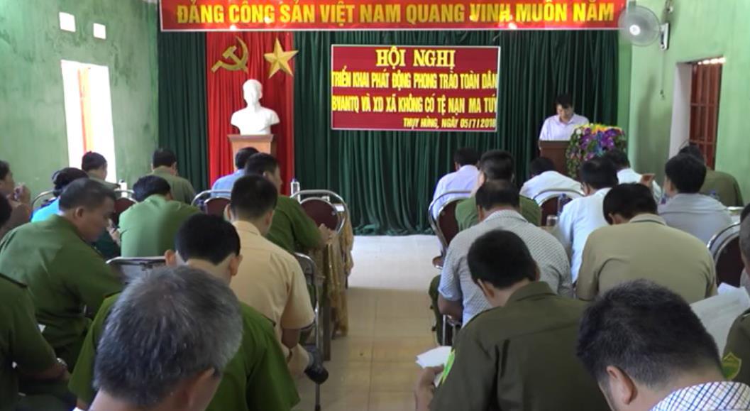 Thạch An: Phát động phong trào Toàn dân bảo vệ ANTQ và xây dựng xã không có tệ nạn ma túy