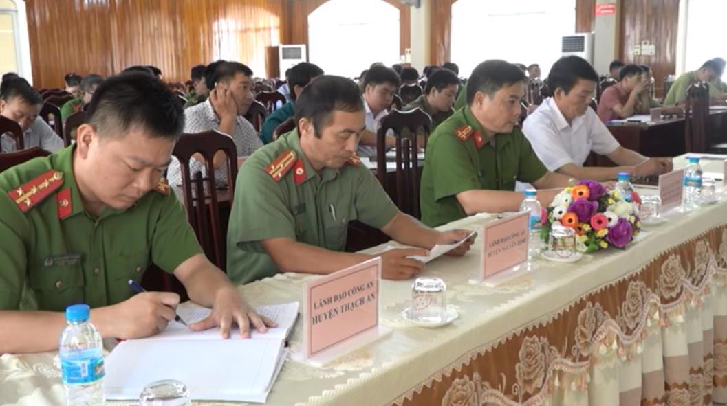 Giao ban cụm an ninh liên hoàn giữa 3 huyện Nguyên Bình, Thạch An, Ngân Sơn