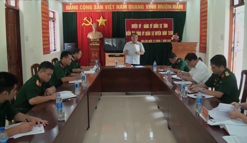 Kiểm tra, giám sát tại Đảng ủy Quân sự huyện Bảo Lâm
