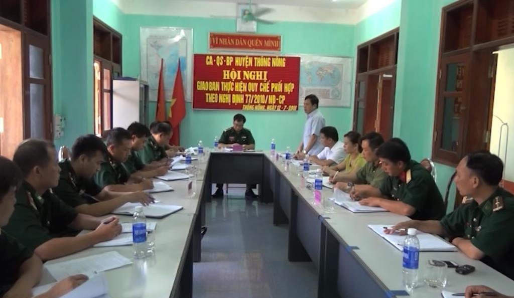 Thông Nông: Sơ kết Quy chế phối hợp giữa 3 lực lượng Công an - Quân Sự - Biên phòng