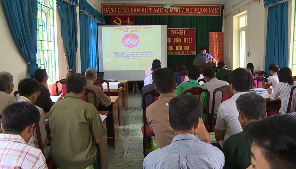 Tập huấn tuyên truyền về xây dựng nông thôn mới tại Hạ Lang