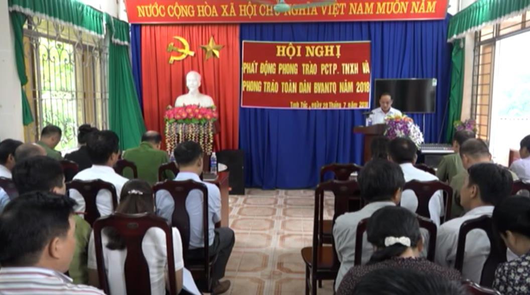 Nguyên Bình: Phát động phong trào Toàn dân bảo vệ an ninh Tổ quốc tại thị trấn Tĩnh Túc