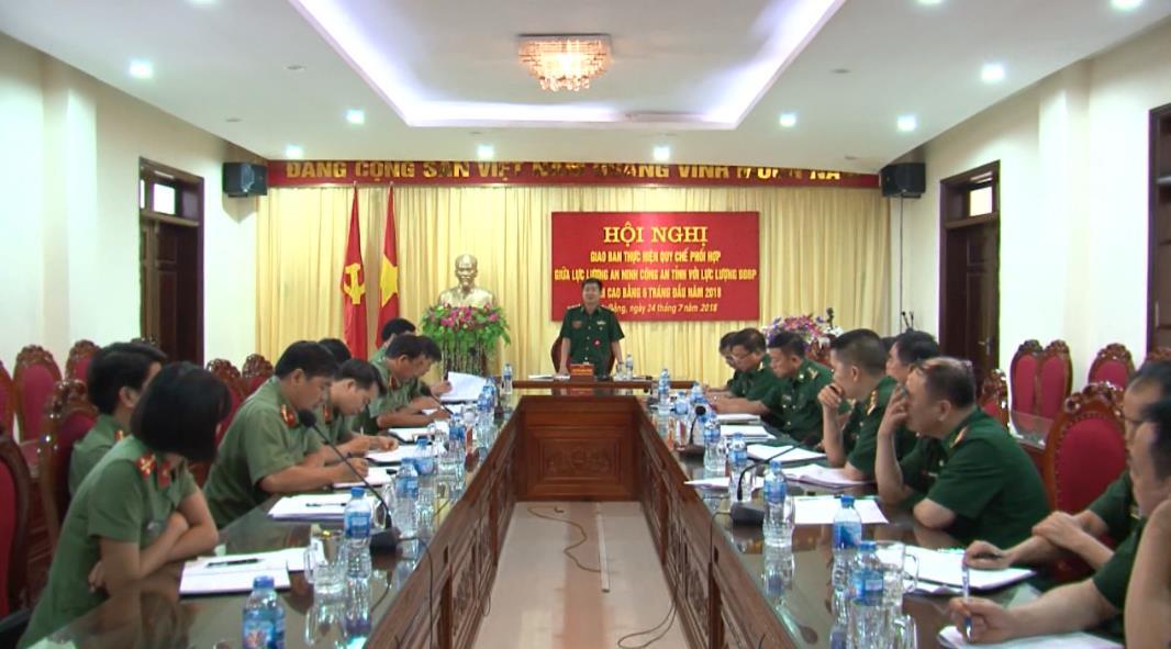 Giao ban quy chế phối hợp giữa Bộ đội Biên phòng và Công an tỉnh