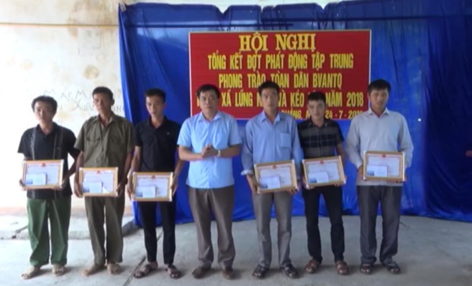 Hà Quảng: Tổng kết đợt phát động tập trung phong trào Toàn dân bảo vệ an ninh Tổ quốc tại 2 xã Kéo Yên, Lũng Nặm