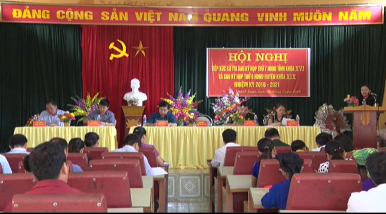 Đại biểu HĐND tỉnh tiếp xúc cử tri xã Khánh Xuân và thị trấn Bảo Lạc, huyện Bảo Lạc