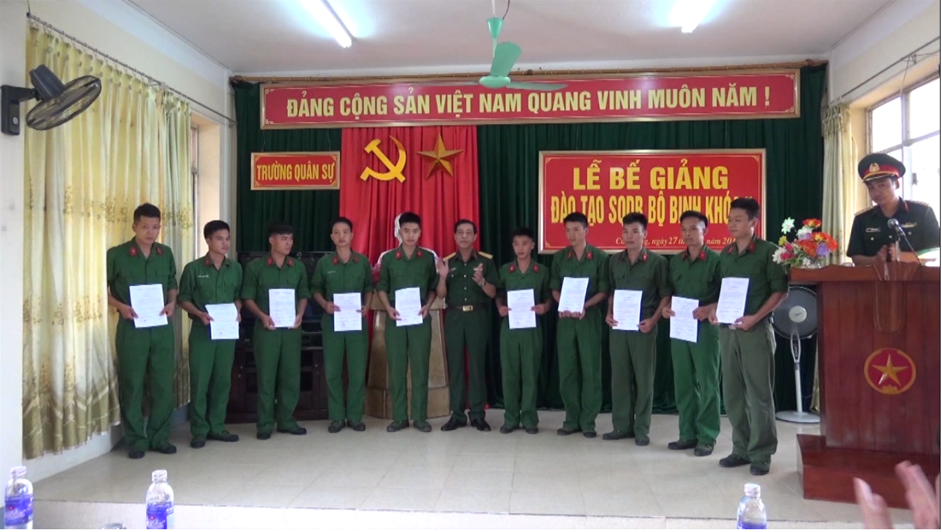Bộ CHQS tỉnh: 50 học viên hoàn thành chương trình đào tạo  sĩ quan dự bị khóa 5