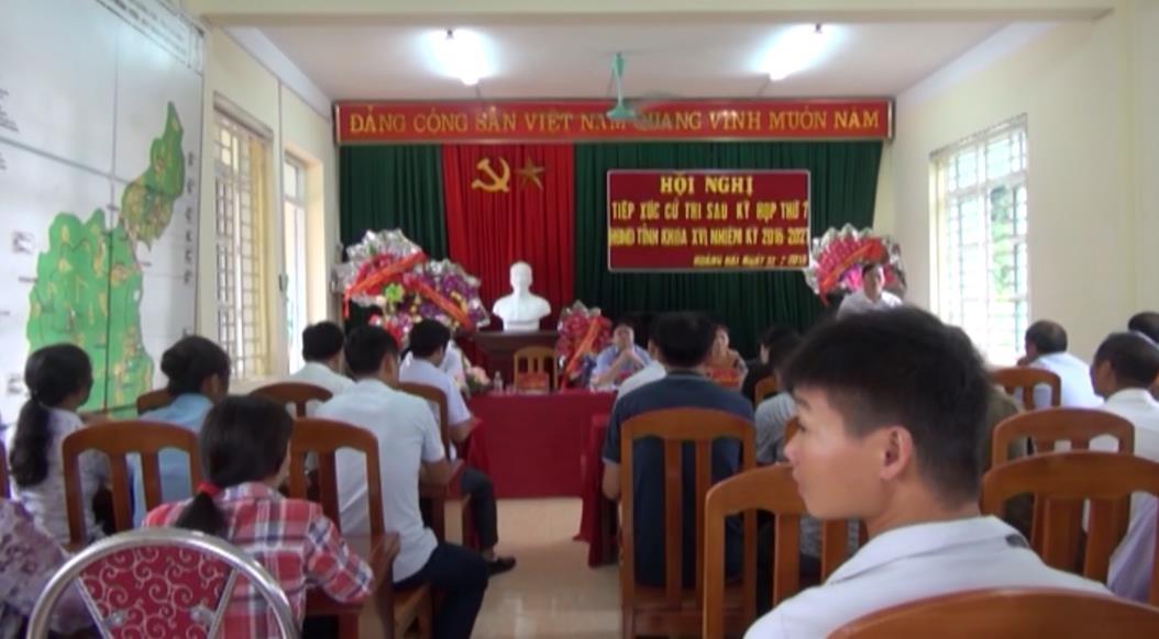 Đại biểu HĐND tỉnh tiếp xúc cử tri huyện Quảng Uyên