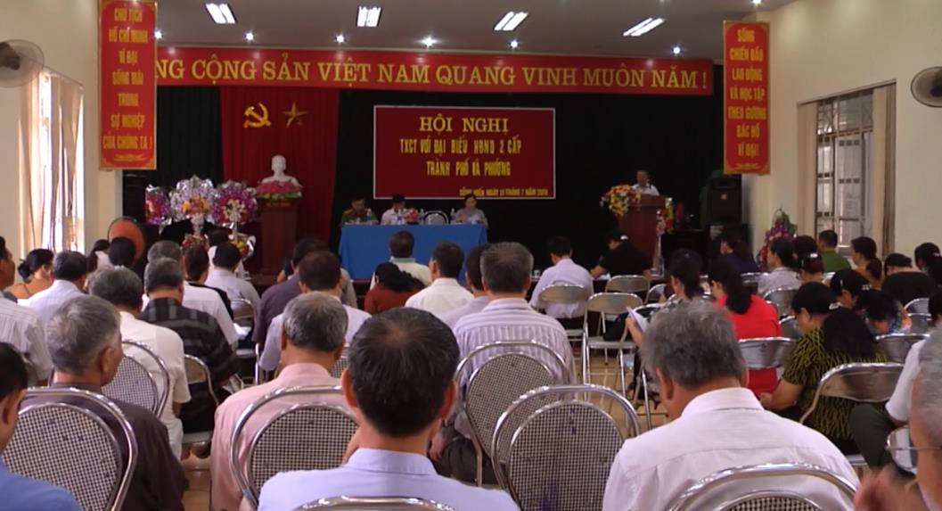 Đại biểu HĐND Thành phố tiếp xúc cử tri phường Sông Hiến