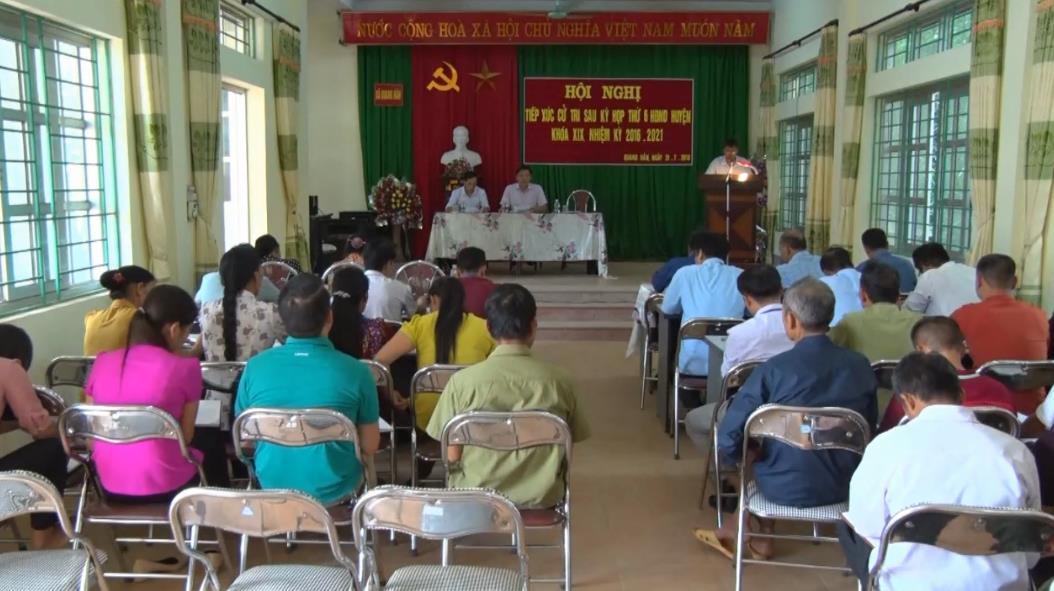 Trà Lĩnh: Đại biểu HĐND huyện tiếp xúc cử tri