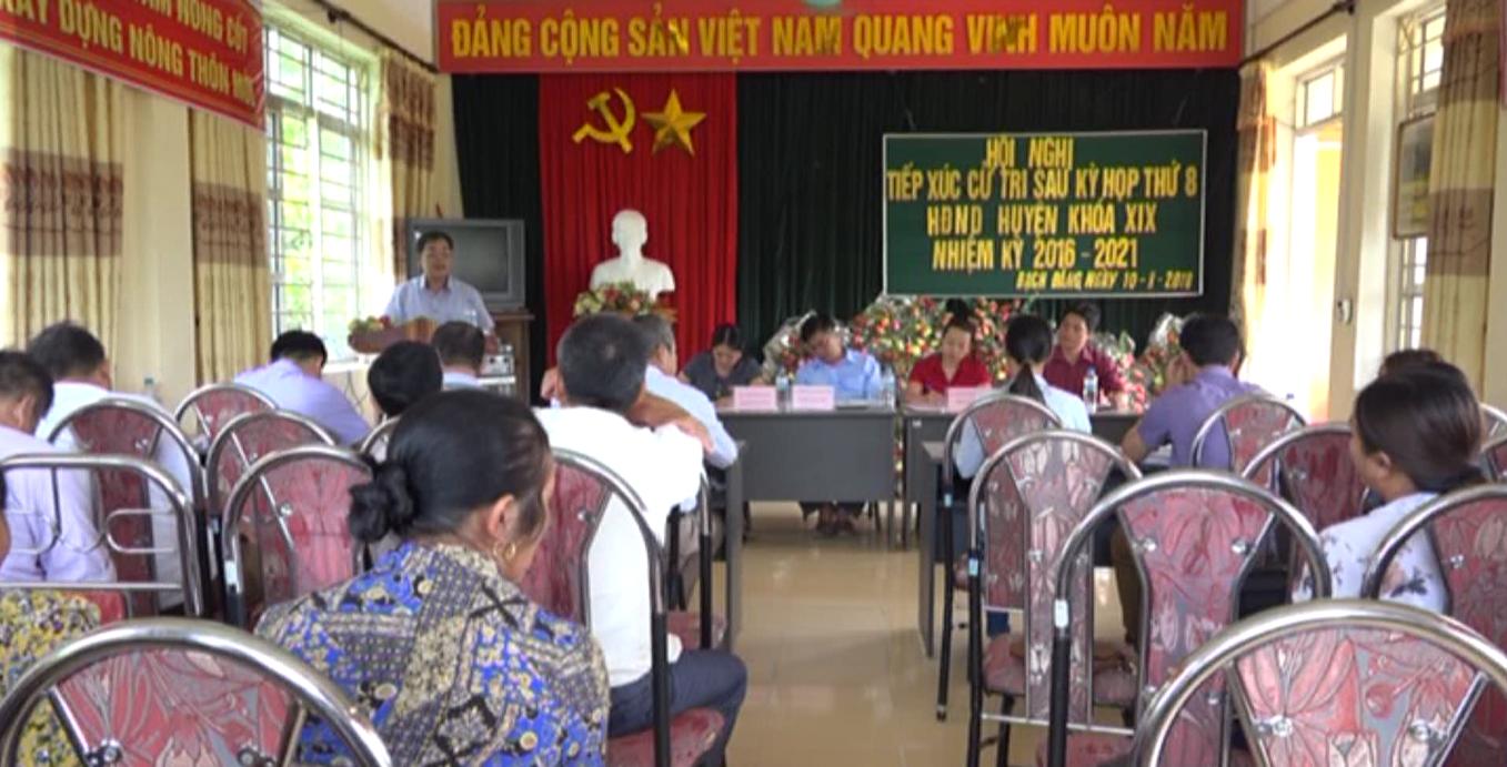 Hòa An: Đại biểu HĐND huyện tiếp xúc cử tri xã Bạch Đằng