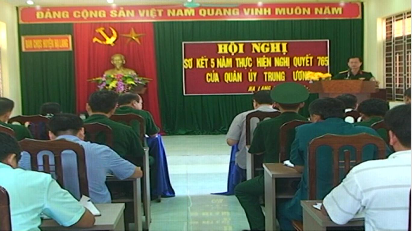 Hạ Lang: Sơ kết 5 năm thực hiện Nghị quyết 765 của Quân ủy Trung ương