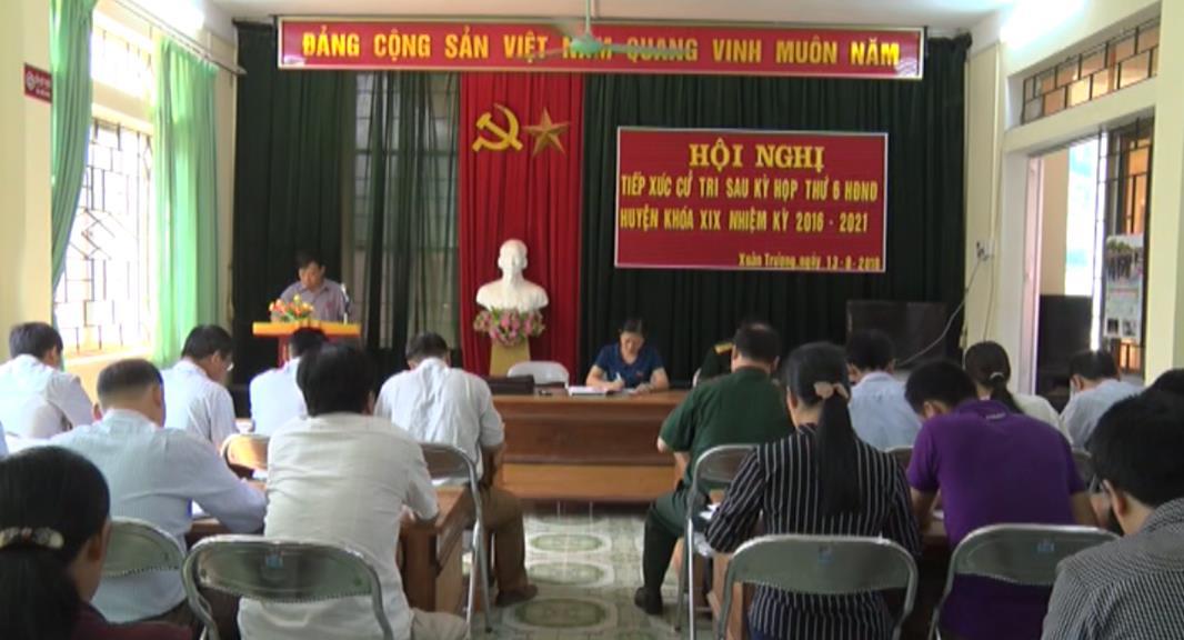 Đại biểu HĐND huyện Bảo Lạc tiếp xúc cử tri hai xã Xuân Trường, Hồng An