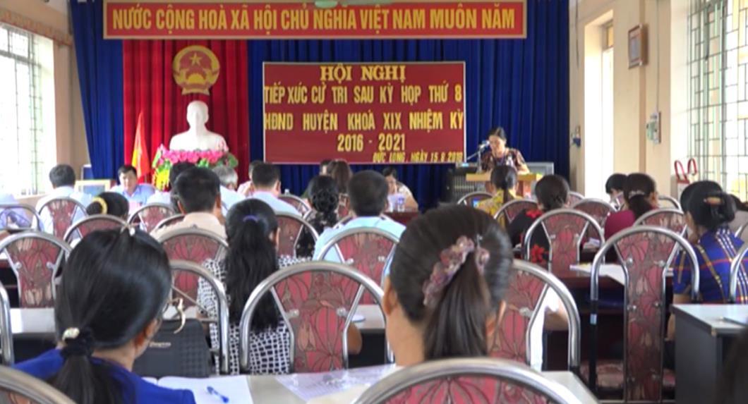 Đại biểu HĐND huyện Hòa An tiếp xúc cử tri xã Đức Long