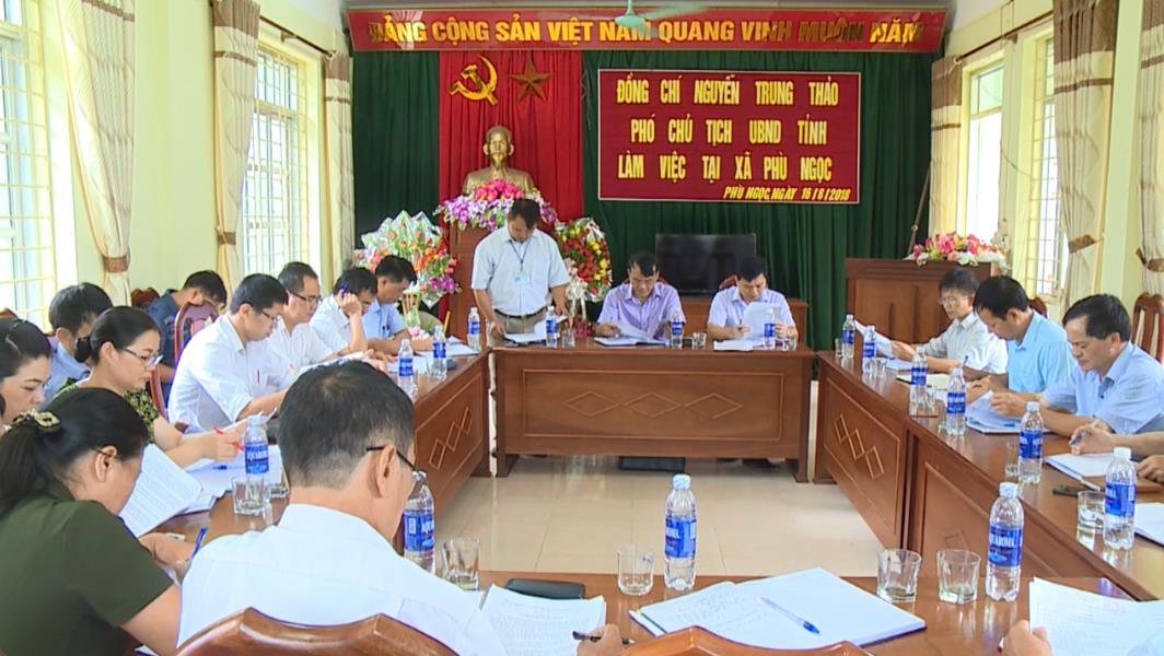 Phó Chủ tịch UBND tỉnh Nguyễn Trung Thảo kiểm tra tiến độ xây dựng nông thôn mới tại Hà Quảng
